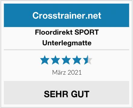 Floordirekt SPORT Unterlegmatte  Test