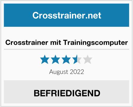 Crosstrainer mit Trainingscomputer Test