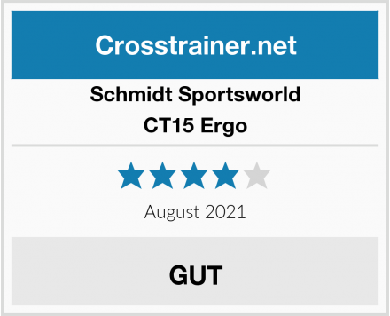 Schmidt Sportsworld CT15 Ergo Test